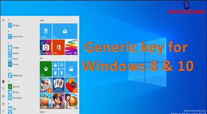 windows 10 generic key
